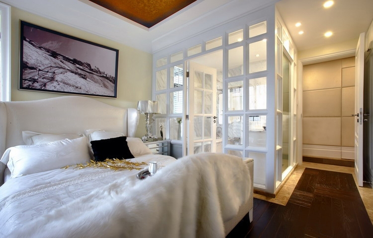 金沙高尔夫 大业美家 效果图 装饰公司 187平 欧式风格 卧室图片来自158xxxx9432在金沙高尔夫官邸装修先施工后付款的分享