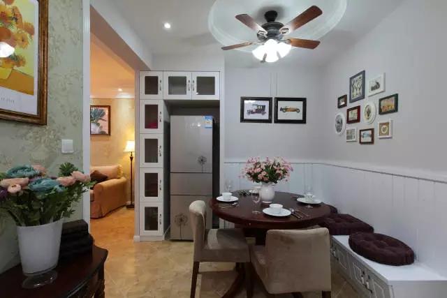 简约 欧式 田园 混搭 二居 三居 别墅 白领 收纳 餐厅图片来自实创装饰晶晶在86㎡美式混搭两居室的分享