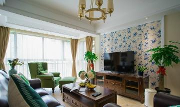 长风名苑三室两厅12.8万美式风格