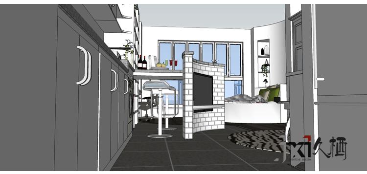 久栖设计 小户型 简约 旧房改造 客厅图片来自久栖设计在久栖设计---mini公馆圆舞曲的分享