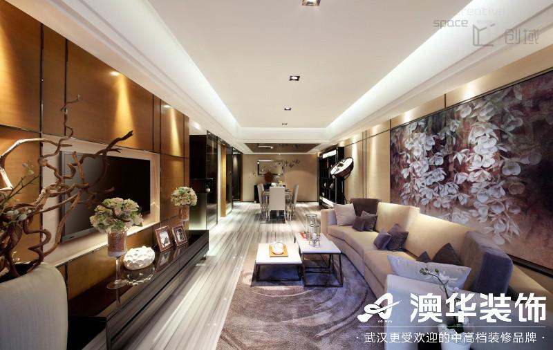 客厅图片来自澳华装饰有限公司在武汉恒大龙墅·现代风格的分享
