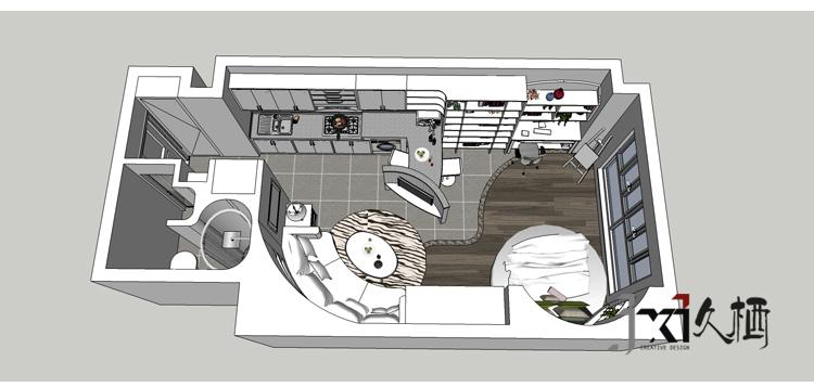 久栖设计 小户型 简约 旧房改造 户型图图片来自久栖设计在久栖设计---mini公馆圆舞曲的分享