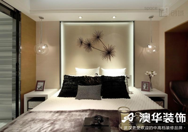 卧室图片来自澳华装饰有限公司在武汉恒大龙墅·现代风格的分享