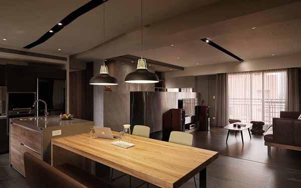 简约 小资 餐厅图片来自上海潮心装潢设计有限公司在西郊景平苑81平简约风二居室装修的分享
