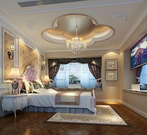 申远 别墅 御沁园 新古典 风格 四居 卧室图片来自用户5616949510在御沁园  新古典风的分享