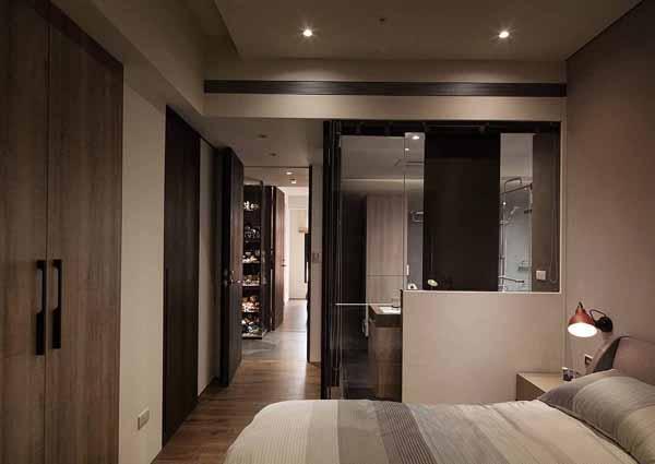 简约 小资 卧室图片来自上海潮心装潢设计有限公司在西郊景平苑81平简约风二居室装修的分享