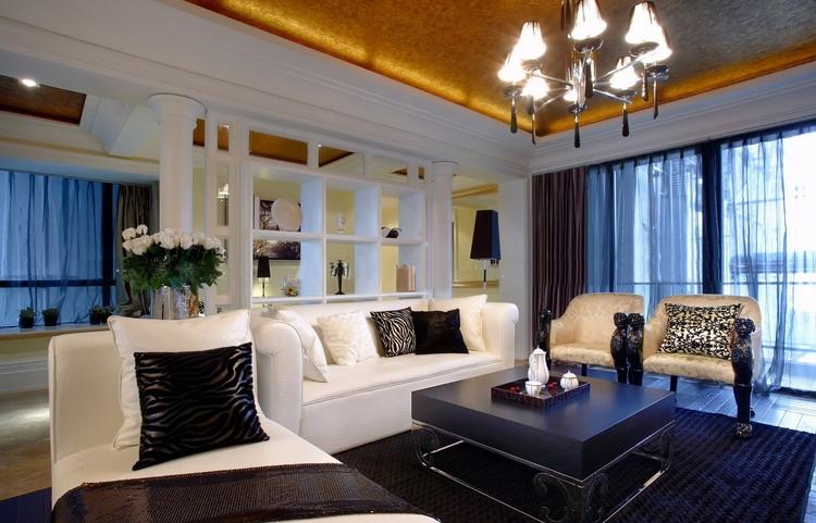 金沙高尔夫 大业美家 效果图 装饰公司 187平 欧式风格 客厅图片来自158xxxx9432在金沙高尔夫官邸装修先施工后付款的分享