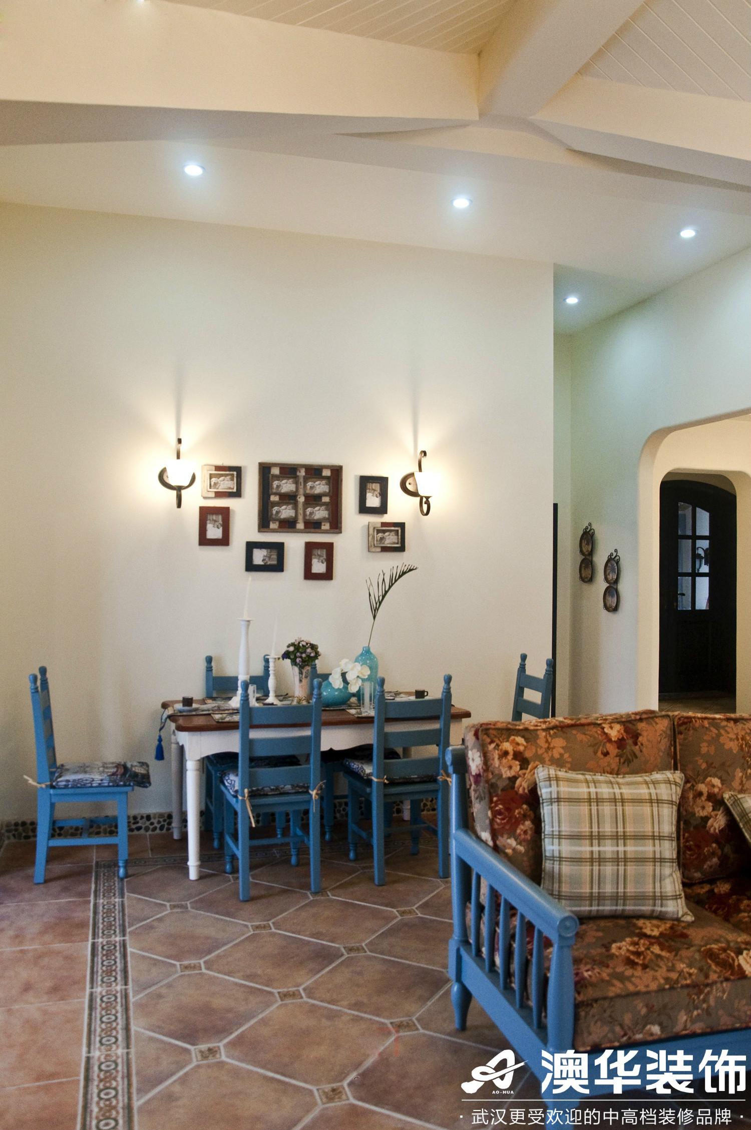 餐厅图片来自澳华装饰有限公司在保利拉菲·地中海风格的分享