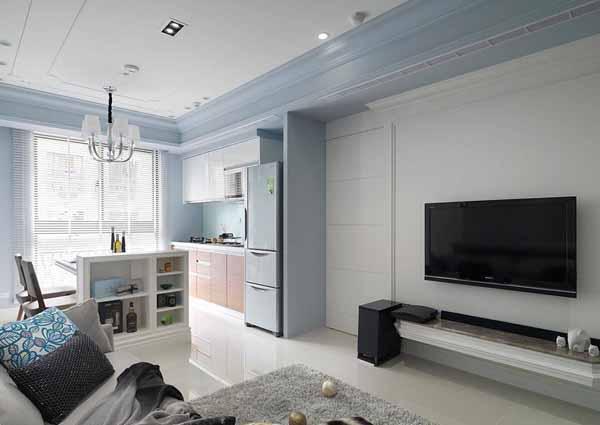 混搭 二居 客厅图片来自上海潮心装潢设计有限公司在66方平米混搭风格二居室装修案例的分享
