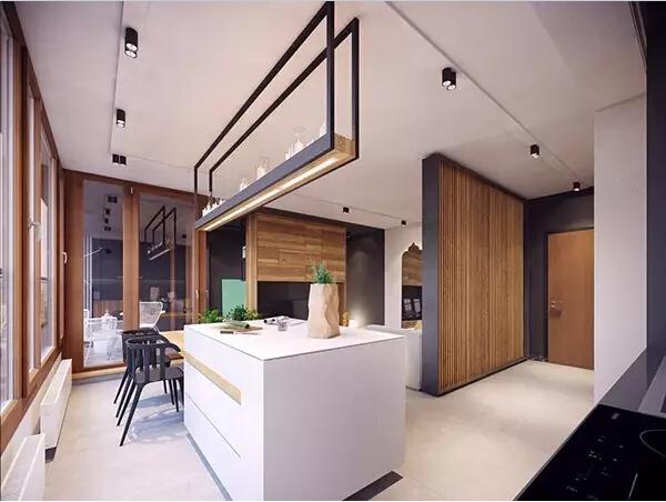 简约 后现代 厨房图片来自实创装饰上海公司在80㎡大一居,开间也能变豪宅的分享
