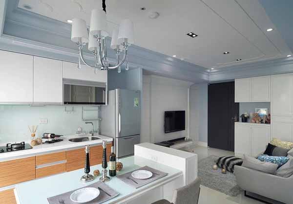 混搭 二居 厨房图片来自上海潮心装潢设计有限公司在66方平米混搭风格二居室装修案例的分享