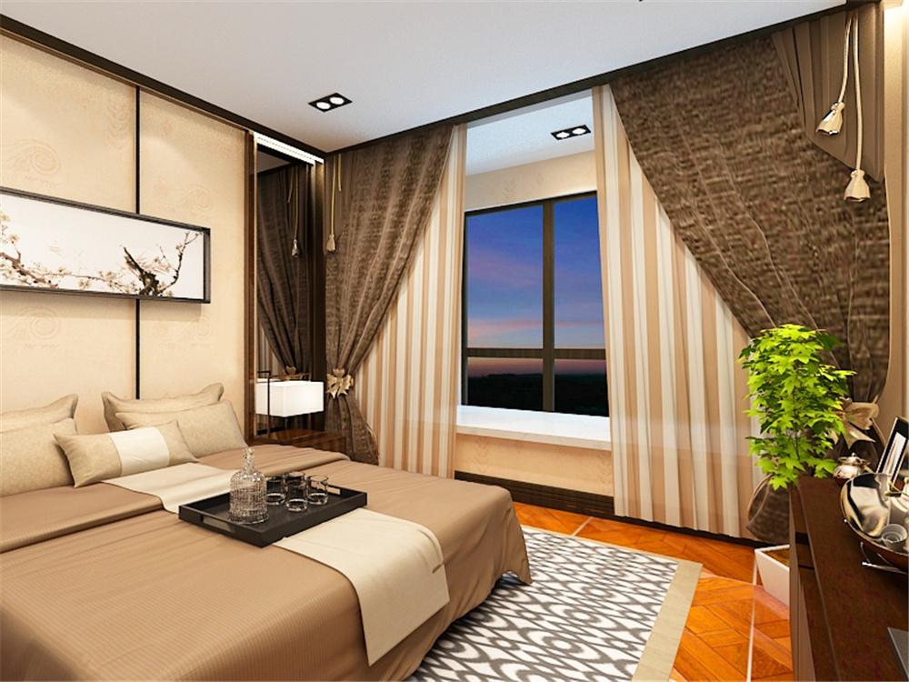 二居 新中式风格 大悦城 卧室图片来自阳光力天装饰在力天装饰-大悦城 -90㎡的分享