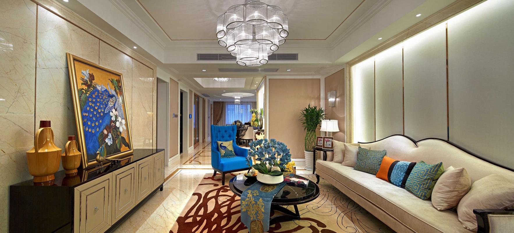 欧式 简约 三居 客厅图片来自张勇高级室内设计师在万科如园欧式设计案例效果展示的分享