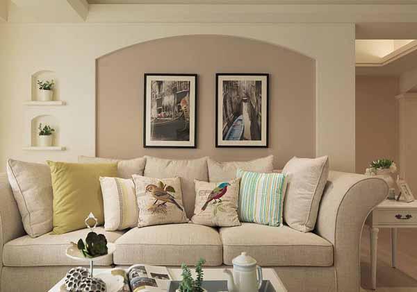 三居 旧房改造 客厅图片来自上海潮心装潢设计有限公司在132平美式风格三居室装修设计的分享