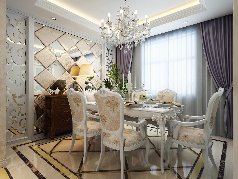 欧式 三居 白领 收纳 旧房改造 80后 小资 餐厅图片来自天津实创装饰赵在【天津实创】160平米-简欧风格的分享