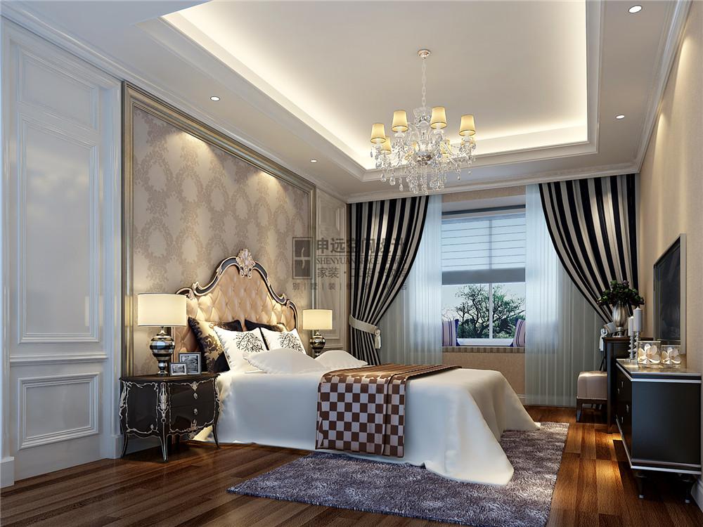 雅居乐星爵 别墅 设计 装修 申远 新古典 四居 卧室图片来自申远-小申在雅居乐星爵别墅  典雅古典风的分享