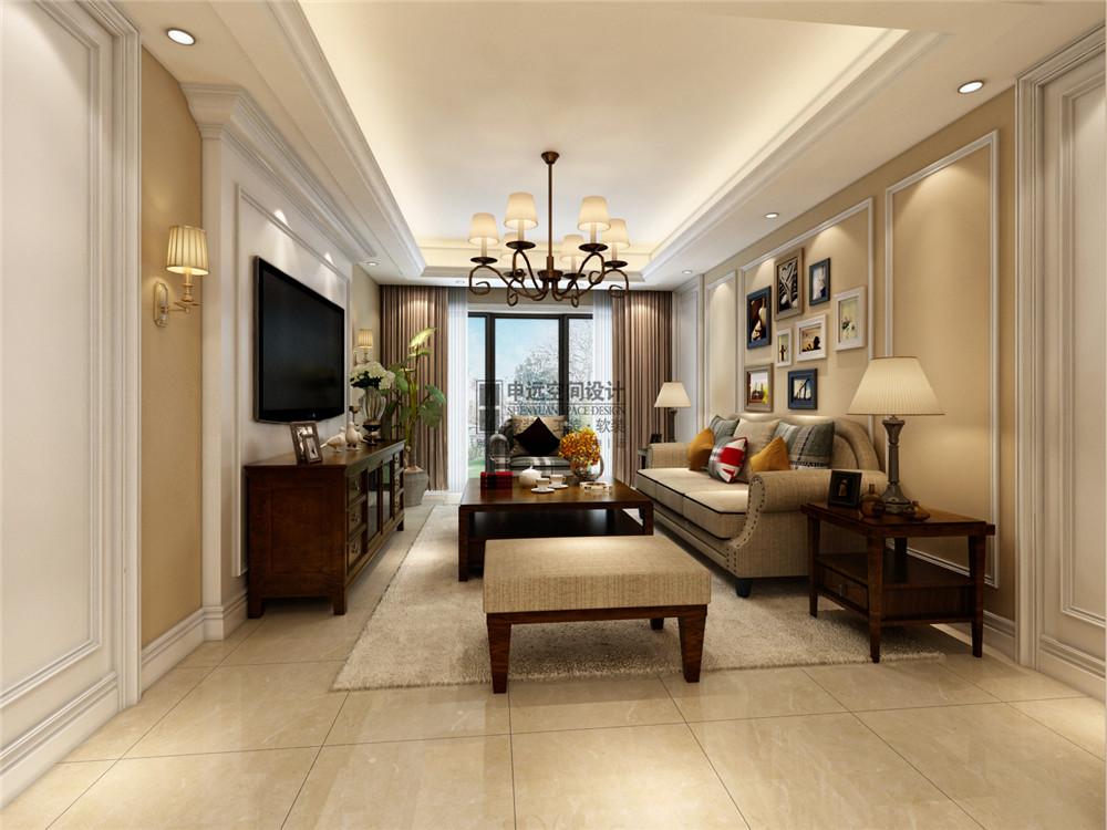 雅居乐星爵 别墅 四居 简美 美式 申远 设计 装修 客厅图片来自申远-小申在雅居乐星爵别墅   清新简美风的分享