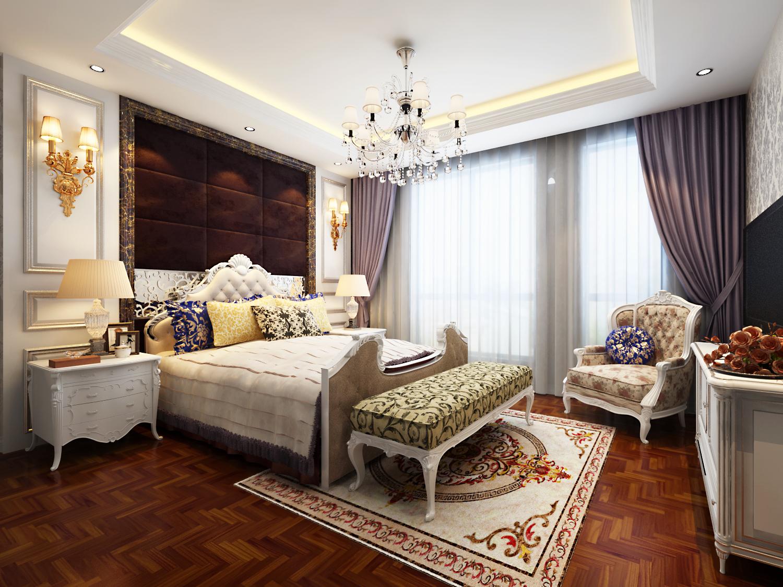 欧式 三居 白领 收纳 旧房改造 80后 小资 卧室图片来自天津实创装饰赵在【天津实创】160平米-简欧风格的分享