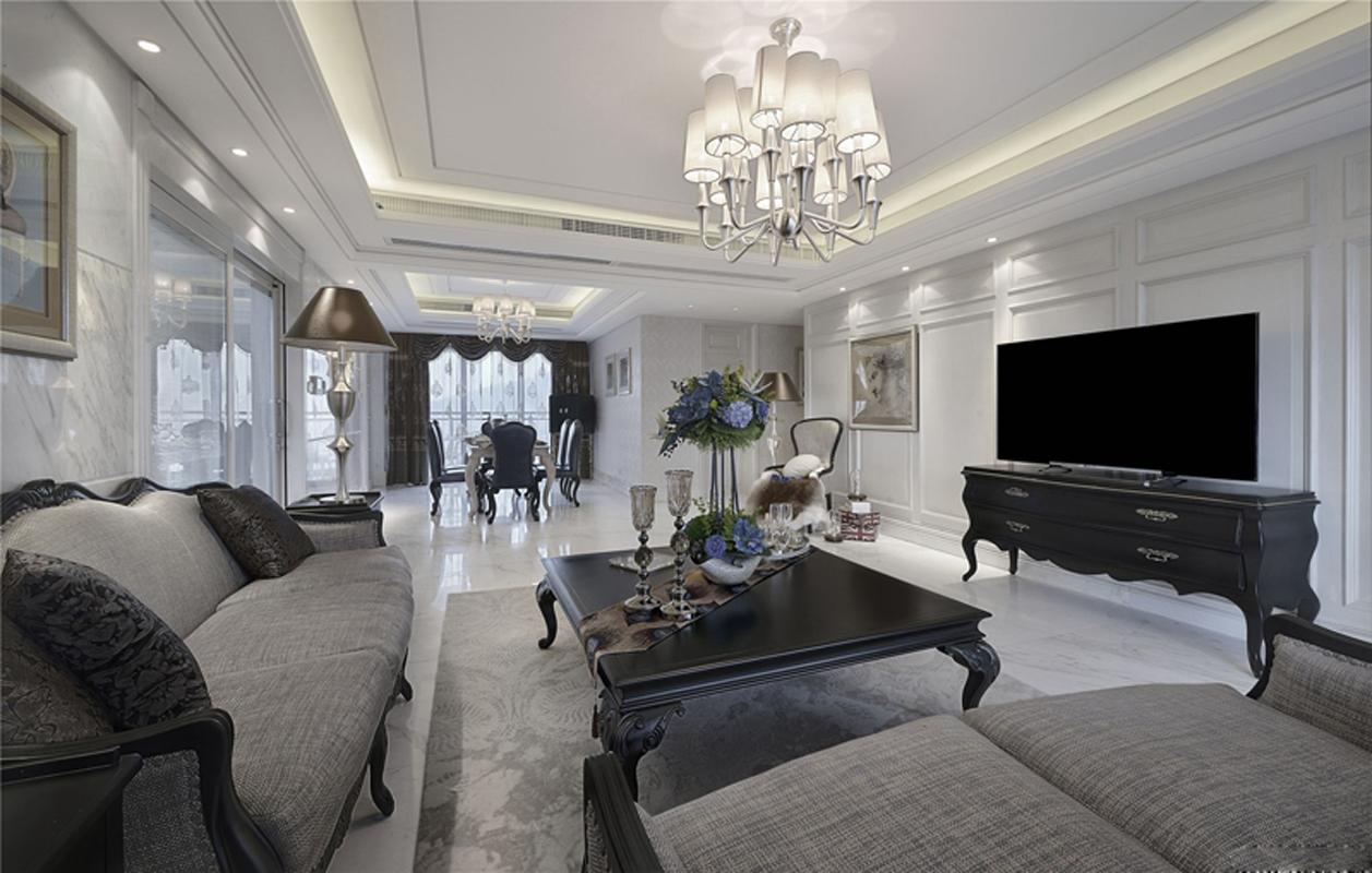 简约 欧式 混搭 别墅 收纳 客厅图片来自张勇高级室内设计师在泛海国际简欧设计案例效果分享的分享