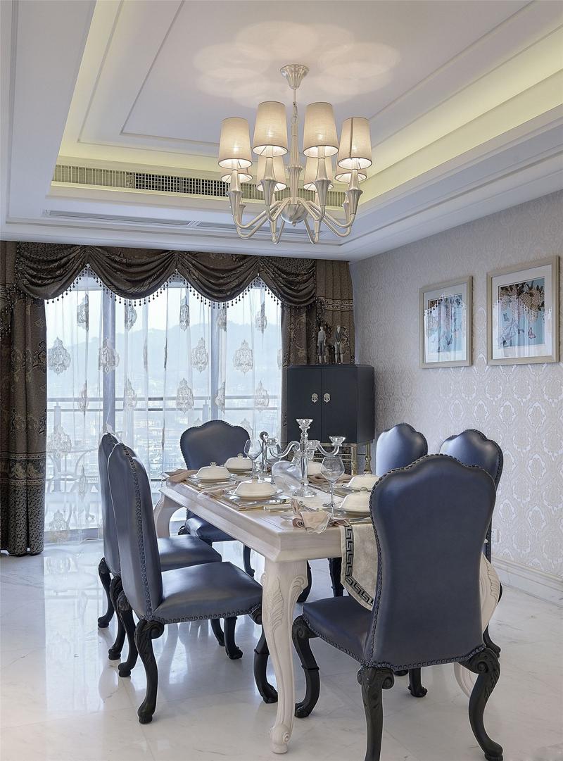 简约 欧式 混搭 别墅 收纳 餐厅图片来自张勇高级室内设计师在泛海国际简欧设计案例效果分享的分享