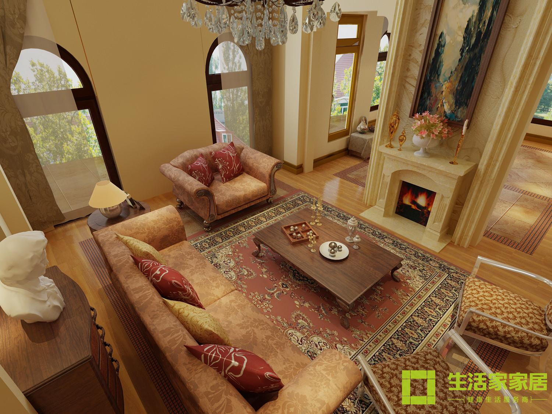别墅 白领 80后 小资 田园 田园风格 生活家 生活家家居 客厅图片来自天津生活家健康整体家装在东丽湖田园风格的分享