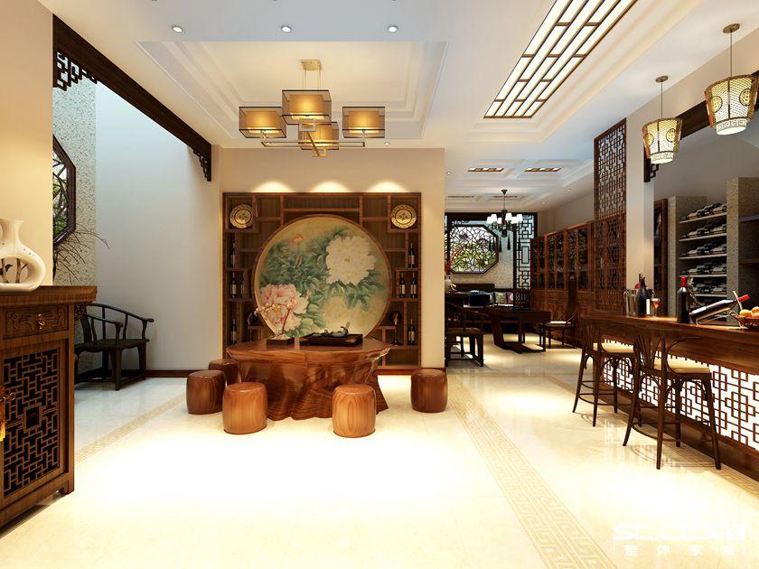 美式风格 别墅 客厅图片来自实创装饰上海公司在中海御景熙岸璟色里270㎡美式的分享
