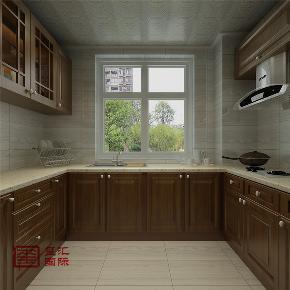 中式 三居 白领 玺汇国际 石家庄装修 厨房图片来自河北玺汇国际装饰公司在最美简中式香木林的分享