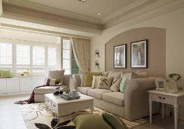 132平美式风格三居室装修设计