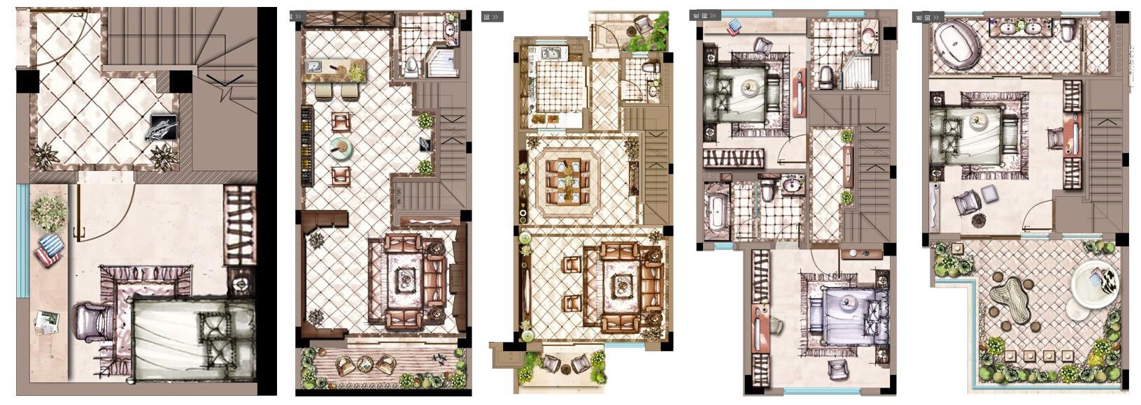 雅居乐星爵 别墅 设计 装修 申远 新古典 四居 户型图图片来自申远-小申在雅居乐星爵别墅  典雅古典风的分享