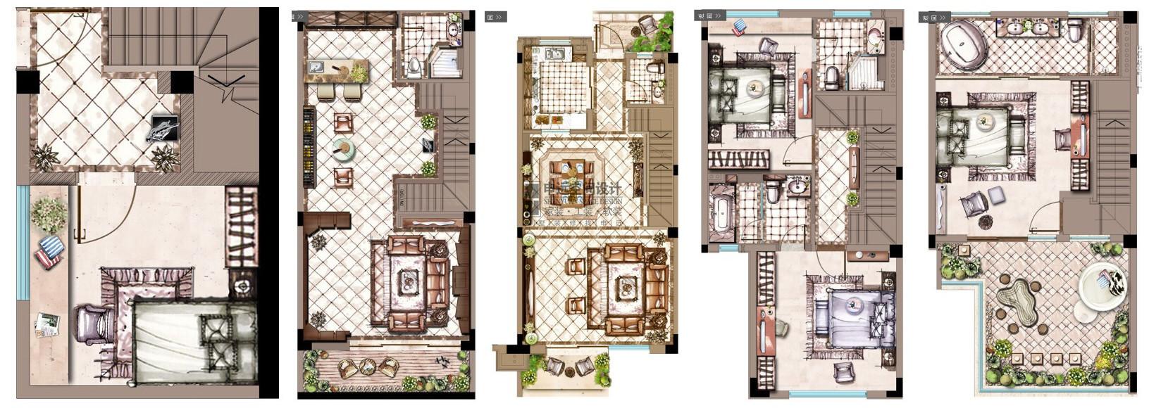 雅居乐星爵 别墅 装修 设计 申远 四居 欧式 户型图图片来自申远-小申在雅居乐星爵别墅    欧式风的分享