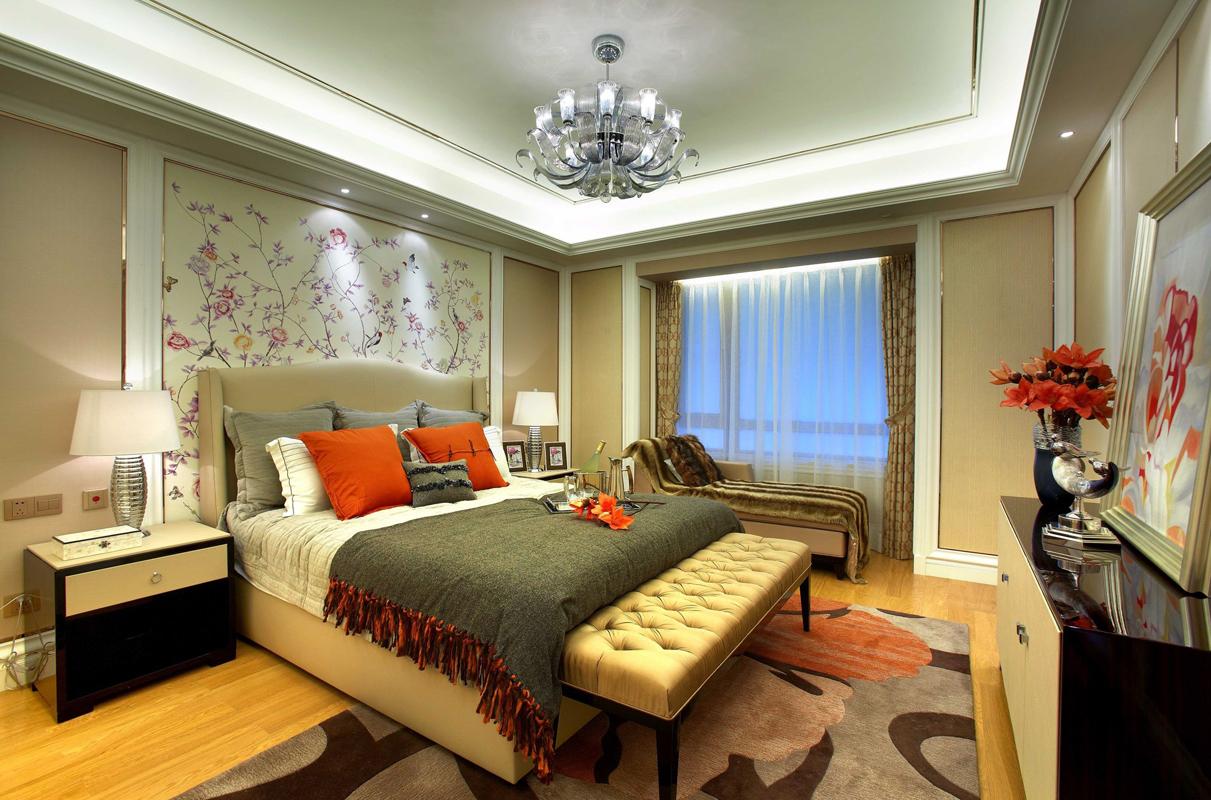 欧式 简约 三居 卧室图片来自张勇高级室内设计师在万科如园欧式设计案例效果展示的分享