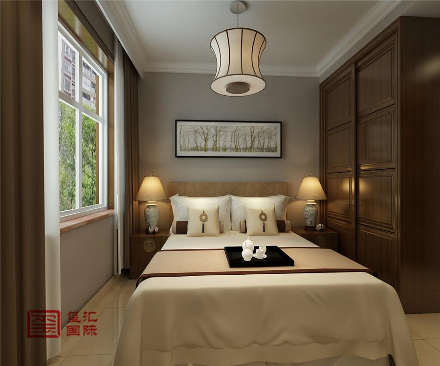 中式 三居 白领 玺汇国际 石家庄装修 卧室图片来自河北玺汇国际装饰公司在最美简中式香木林的分享