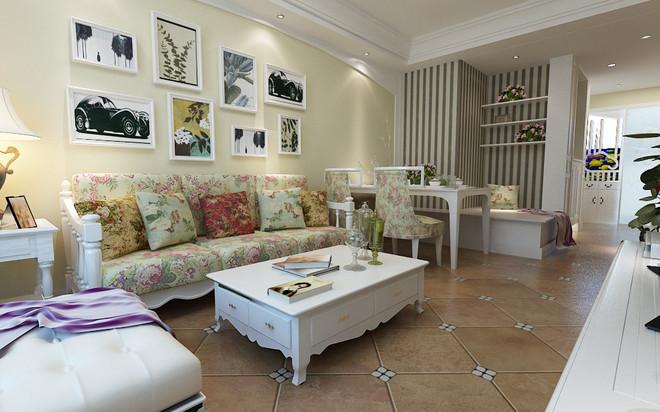 田园 二居 80后 小资 客厅图片来自武汉全有装饰在世茂锦绣长江84平--田园的分享