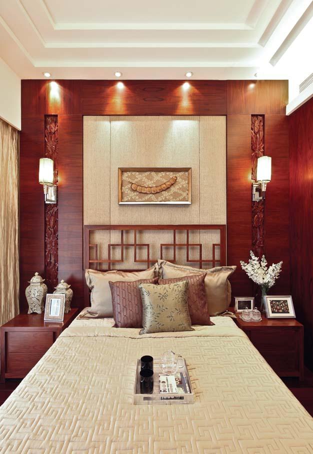 别墅 新中式 80后 典雅 卧室图片来自fy1831303388在江南宅院的分享