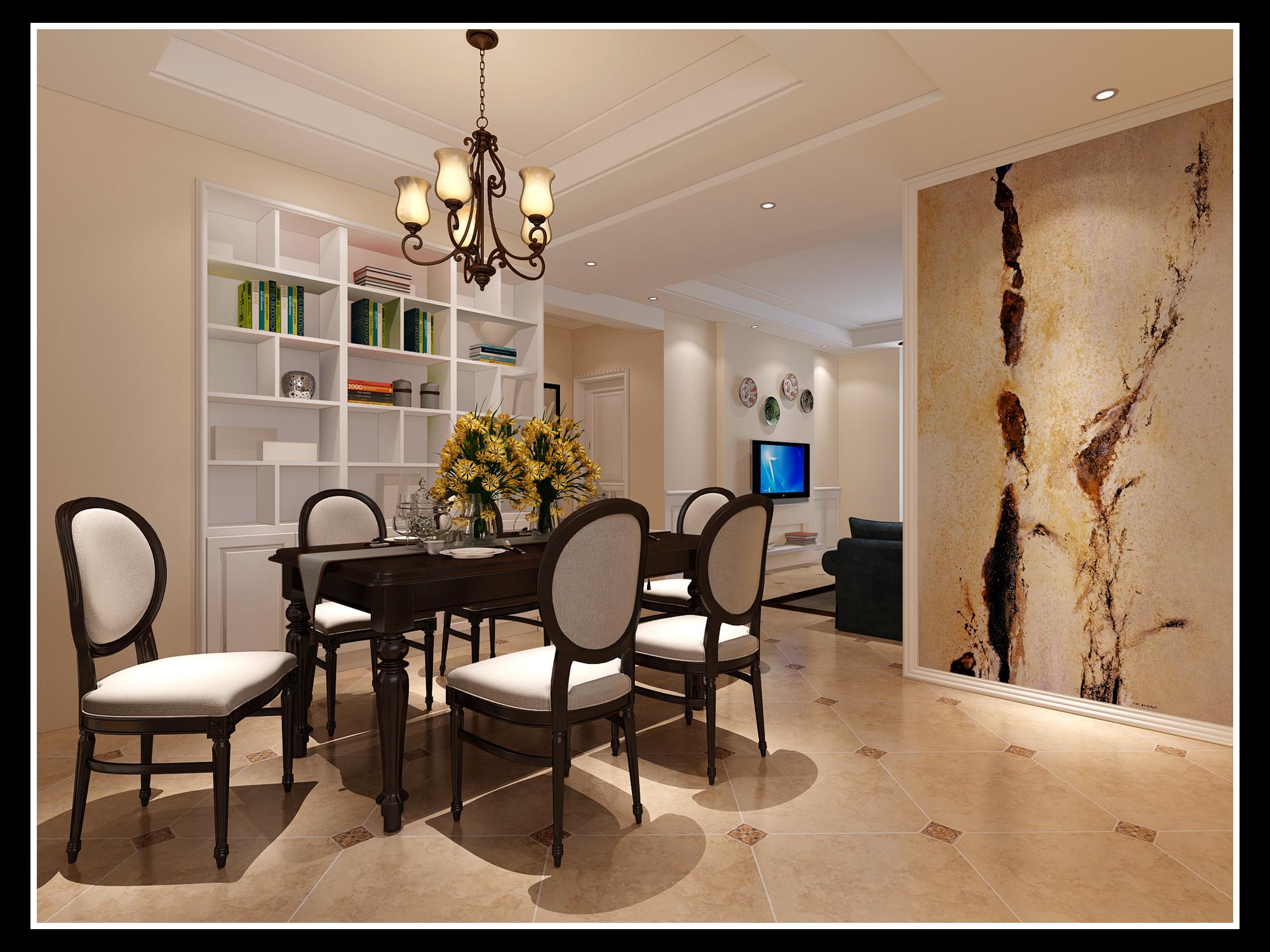 简约 美式 三居 餐厅图片来自链连妞妞在慧苑华侨公寓的分享