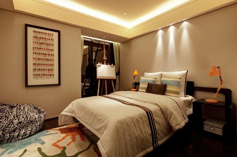 复式 三居 小资 卧室图片来自九鼎建筑装饰工程有限公司成都分在中德英伦联邦120平简约风的分享