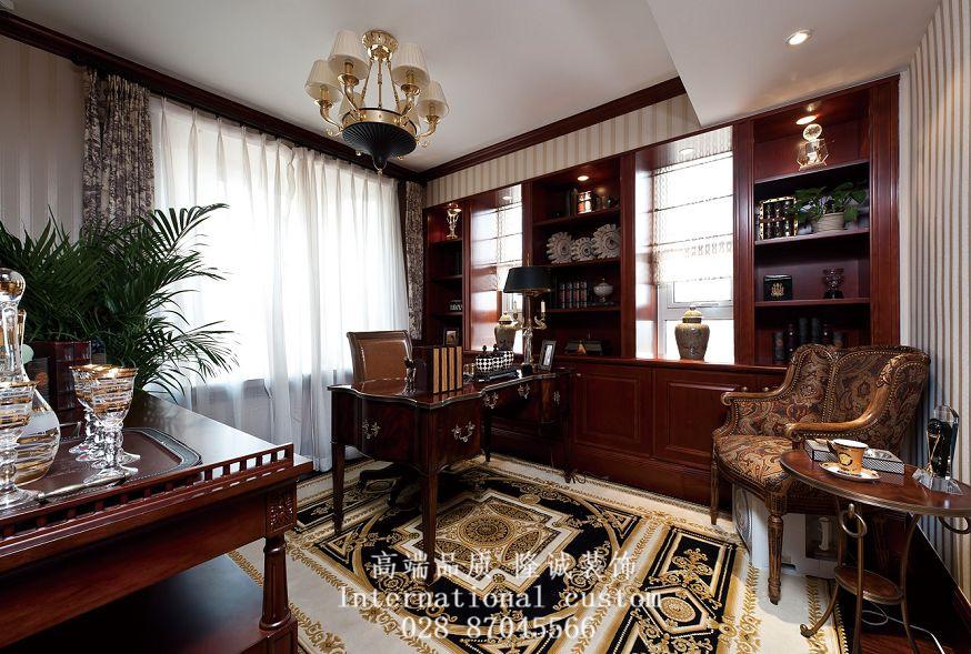三居 美式 典雅 高贵 大气 装饰 书房图片来自fy1831303388在彩叠园的分享