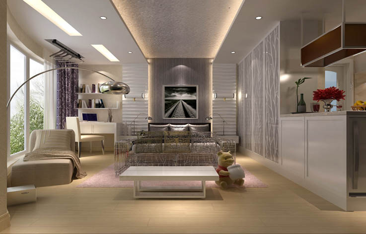 简约 二居 装修 设计 客厅图片来自张邯在高度国际-东湖湾的分享