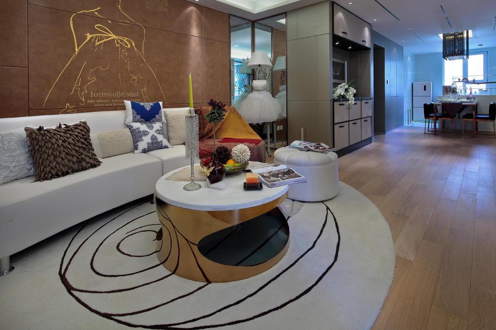 客厅图片来自澳华装饰有限公司在汇悦天地·现代简约风格的分享