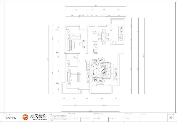 从入户门顺时针看起,入门后左边就是客厅,客厅有一个向南的窗户,采光和通风性很好,主沙发和电视的合理的布局,把可用的空间的最大化!客厅的左边就是主人休息的地方,卧室,在卧室的划分出一块地方作为卫生间。