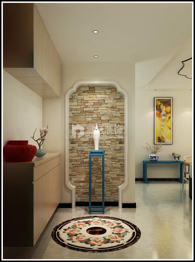 新中式 清水居 三居 玄关图片来自河北瀚沃装饰在清水居的分享