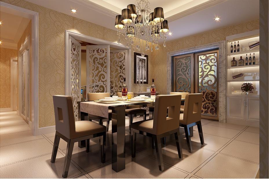 餐厅图片来自北京居然元洲装饰小尼在融科钧廷简欧风格三居室的分享