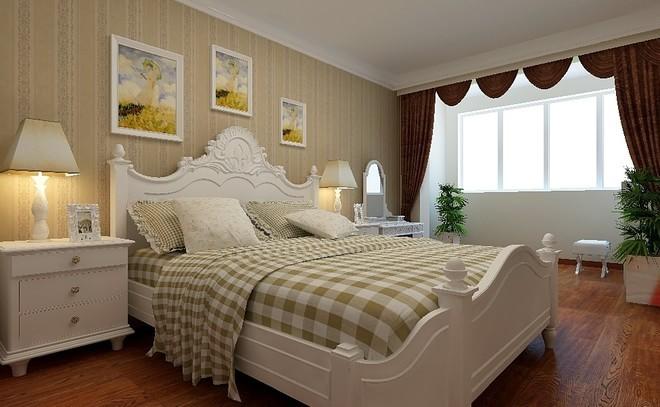 田园 二居 80后 小资 卧室图片来自武汉全有装饰在世茂锦绣长江84平--田园的分享