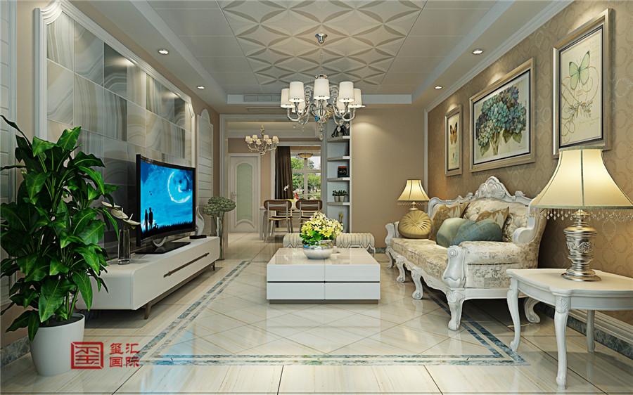混搭风格 三室 玺汇国际 客厅装修 客厅图片来自河北玺汇国际装饰公司在卓达明郡140平三室混搭风格的分享