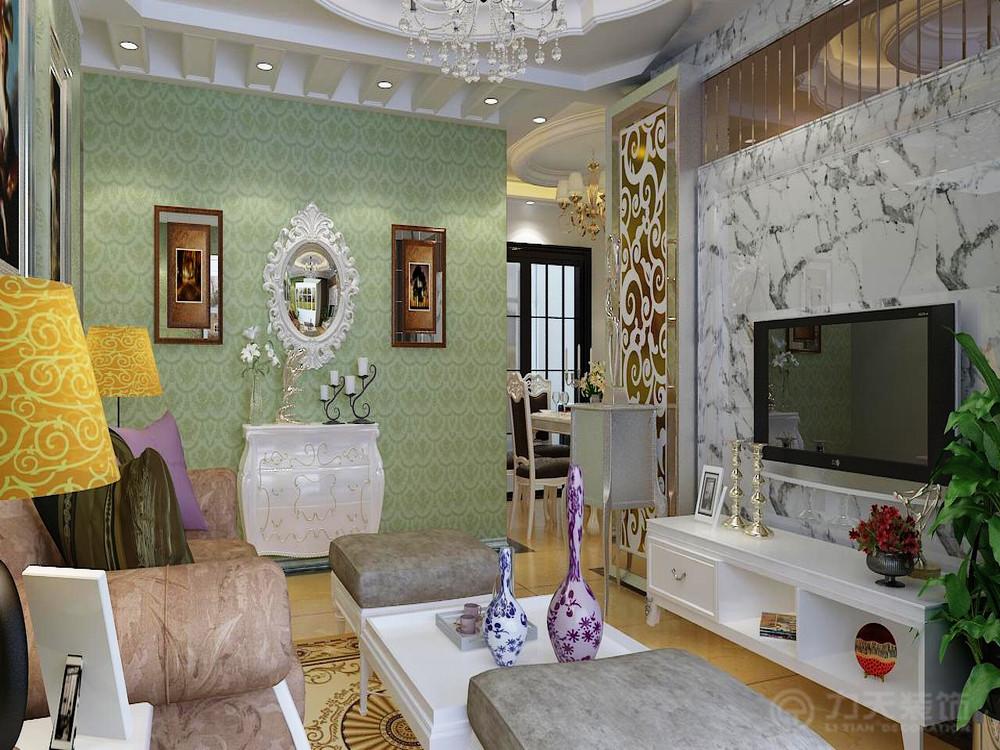 客厅图片来自阳光力天装饰在简欧风格 天骥筑璟  117㎡的分享