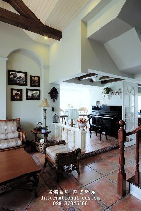 田园 英式 温馨 舒适 复式 收纳 客厅图片来自fy1831303388在西贵堂的分享