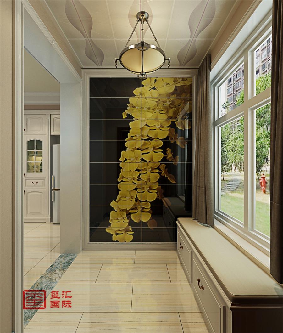 混搭风格 三室 玺汇国际 石家庄装修 玄关图片来自河北玺汇国际装饰公司在卓达明郡140平三室混搭风格的分享