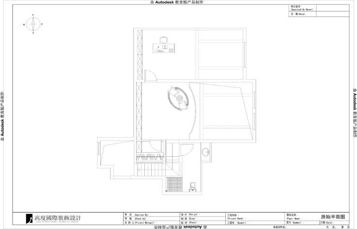 欧式 二居 混搭 装修 设计 户型图图片来自张邯在高度国际-金隅翡丽6的分享