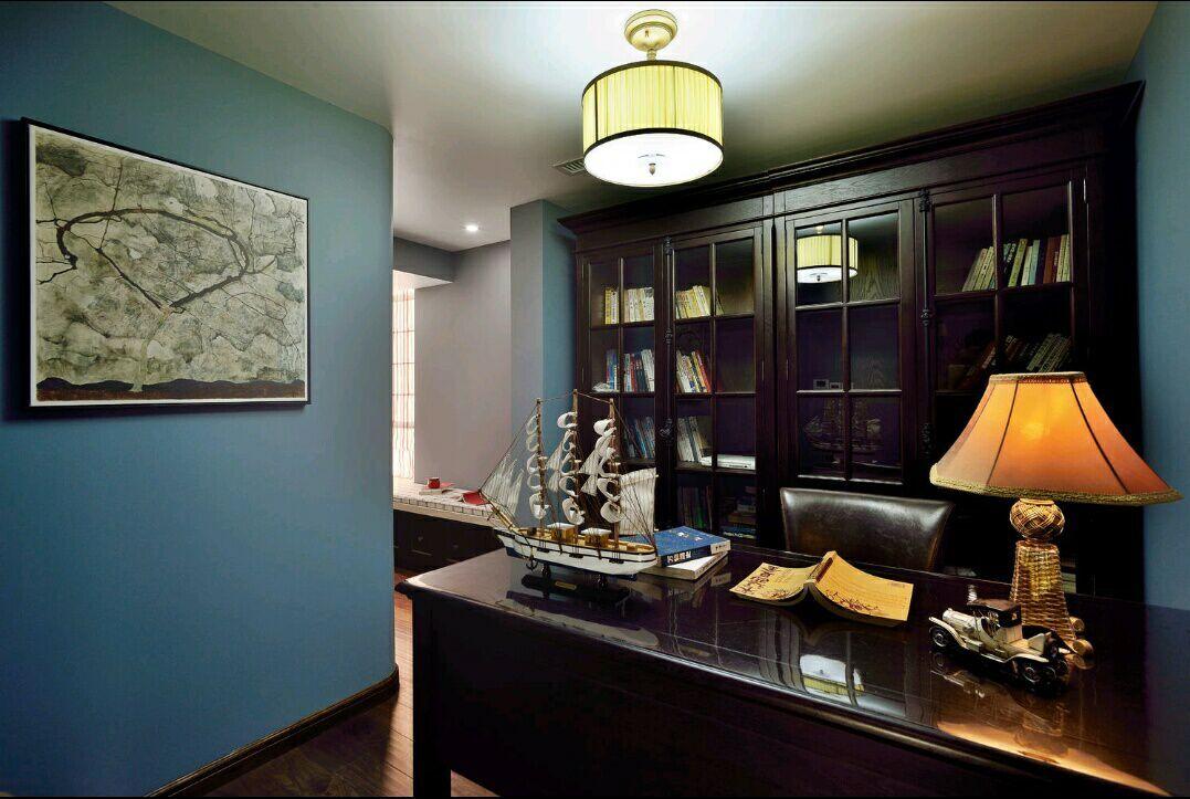 四居室 美式风格 兰亭时代 嘉年华装饰 140平 书房图片来自武汉嘉年华装饰在空间感超强的美式风格的分享