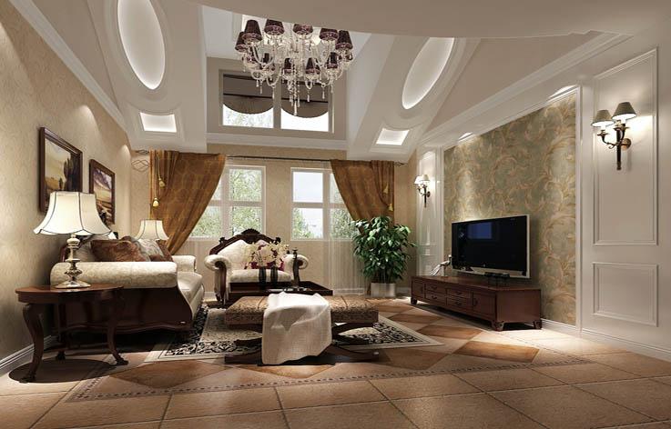 欧式 二居 混搭 装修 设计 客厅图片来自张邯在高度国际-金隅翡丽6的分享